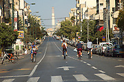 Israel, Tel Aviv, Ben Yehuda, Street empty of cars during Yom Kippur October 2005,