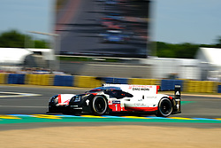 June 17, 2017 - Le Mans, Sarthe, France - Porsche LMP Team Porsche 919 Hybrid rider NEEL JANI (CHE) in action during the race of the 24 hours of Le Mans on the Le Mans Circuit - France (Credit Image: © Pierre Stevenin via ZUMA Wire)