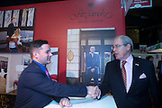 21/1/16  US Ambassador Kevin O'Malley at the Fitzpatrick Hotel stand at the Holiday World Show in the RDS in Dublin. Picture: Arthur Carron