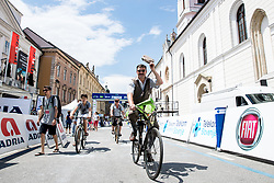 Cyclists with old bicycles during 2nd Stage of 26th Tour of Slovenia 2019 cycling race between Maribor and Celje (146,3 km), on June 20, 2019 in Slovenia.. Photo by Matic Klansek Velej / Sportida