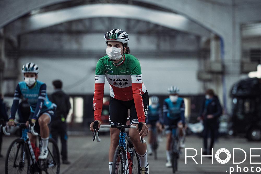 Elisa Longo Borghini (ITA/Trek Segafredo) pre race<br /> <br /> 13th Women's Omloop Het Nieuwsblad 2021 <br /> 1 Day Race: Gent – Ninove 124km<br /> <br /> ©Rhode.Photo