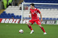 Gareth Bale of Wales. Wales v Scotland, friendly international football match at the Cardiff City stadium, Cardiff, Wales, UK on Sat 14th Nov 2009.  pic by Andrew Orchard, Andrew Orchard sports photography