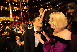 Rami Malek and Lucy Boynton during the live ABC Telecast of The 91st Oscars® at the Dolby® Theatre in Hollywood, CA on Sunday, February 24, 2019.