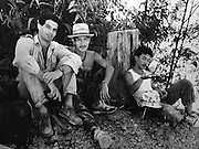 Nigel with Kelabit friends on the banks of the Limbang River in Autumn 1989