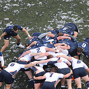 Mystic River 2 and New York Rugby Club players challenge in a scrum during the Men's Club Division game at the Four Leaf 15s Rugby Tournament which attracted over 60 clubs teams from New York and Interstate. Randall's Island Park, New York,  USA. 21st March 2015. Photo Tim Clayton