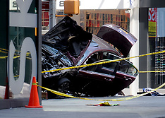 NY: Car accident in Times Square - 18 May 2017
