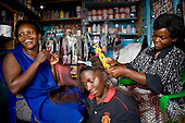 Market trader children, Kampala, Uganda