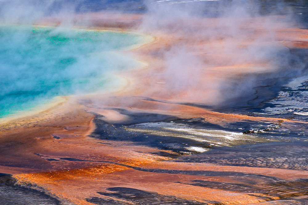 Grand Prismatic Spring, summer, Yellowstone National Park, Wyoming, USA