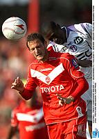 FOOTBALL - FRENCH CHAMPIONSHIP 2008/2009 - L1 - VALENCIENNES FC v TOULOUSE FC - 28/09/2008 - GREGORY PUJOL (VA) / MOHAMED FOFANA (TOU)  - PHOTO ERIC BRETAGNON / FLASH PRESS