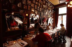 BRUSSELS, BELGIUM - MARCH-2-2004 - Chez Marie restaurant and wine bar at 40 Rue Alphonse de Witte in Brussels. (Photo © Jock Fistick)
