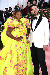 """Serena Williams and Alexis Ohanian at the 2019 Costume Institute Benefit Gala celebrating the opening of """"Camp: Notes on Fashion"""".<br />(The Metropolitan Museum of Art, NYC)"""