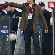 Genclerbirligi's coach Ralf ZUMDICK during their Turkish superleague soccer match Besiktas between Genclerbirligi at BJK Inonu Stadium in Istanbul Turkey on Friday, 15 April 2011. Photo by TURKPIX