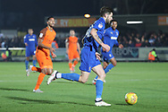 AFC Wimbledon midfielder Anthony Wordsworth (40) dribbling during the EFL Sky Bet League 1 match between AFC Wimbledon and Southend United at the Cherry Red Records Stadium, Kingston, England on 24 November 2018.