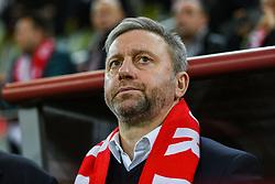 November 15, 2018 - Gdansk, Poland, Head coach of Poland JERZY BRZECZEK during football friendly match between Poland - Czech Republic at the Stadion Energa in Gdansk, Poland