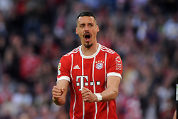 14.04.2018, Allianz Arena, Muenchen, GER, 1. FBL, FC Bayern Muenchen vs Borussia Moenchengladbach, 30. Runde, im Bild Sandro Wagner (FC Bayern Muenchen) // during the German Bundesliga 30th round match between FC Bayern Munich and Borussia Moenchengladbach at the Allianz Arena in Muenchen, Germany on 2018/04/14. EXPA Pictures © 2018, PhotoCredit: EXPA/ Eibner-Pressefoto/ Stuetzle<br /> <br /> *****ATTENTION - OUT of GER*****