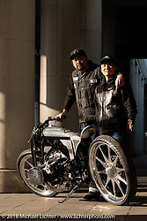 Yuichi Yoshizawa and Yoshikazu Ueda' with their Custom Works Zon BMW R18 prototype boxer engine custom at the 27th Annual Mooneyes Yokohama Hot Rod Custom Show 2018. Yokohama, Japan. Saturday, December 1, 2018. Photography ©2018 Michael Lichter.