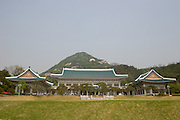 Cheong Wa Dae (Blue House), the presidential residence.
