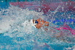 July 26, 2017 - Budapest, Hungary - Alicja Tchorz of Poland competes during the Women's 50m Backstroke Heats on day thirteen of the Budapest 2017 FINA World Championships on July 26, 2017 in Budapest, Hungary. (Credit Image: © Foto Olimpik/NurPhoto via ZUMA Press)
