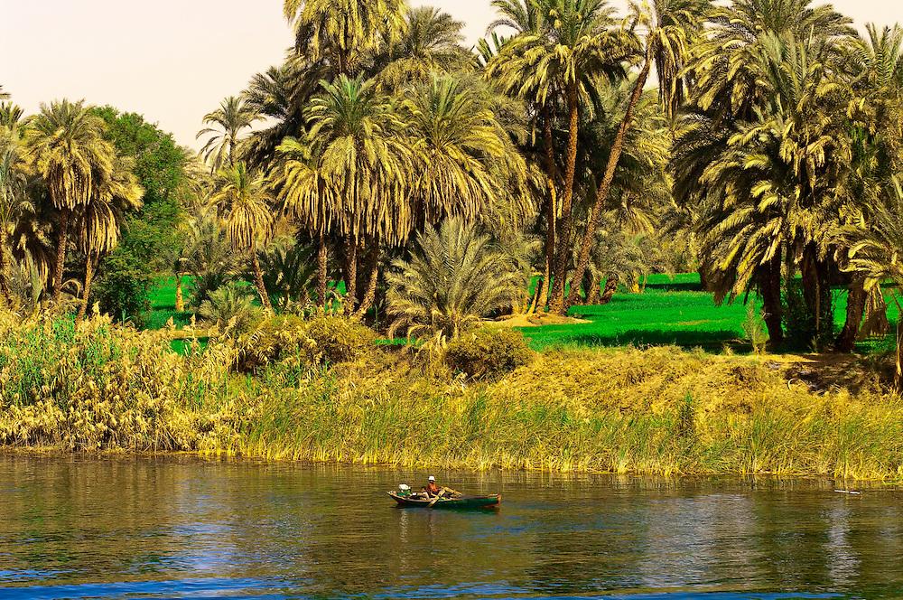 Life along the Nile River between Edfu and Esna, Egypt