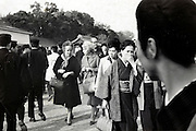 Western tourism being looked at by Japanese tourist Japan 1950s 1960s