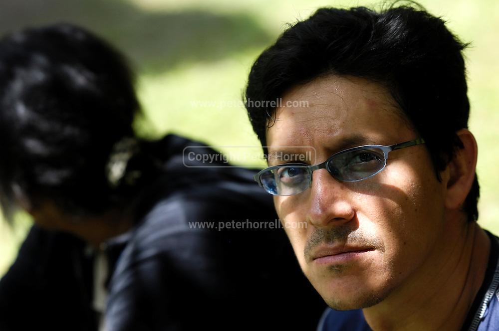 Ecuador, May 13 2010: Paul Bustos at the Cofan Lodge campsite...Copyright 2010 Peter Horrell