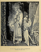The High Priest, with his Ephod and Breastplate, Entering the Holy Place from ' The Doré family Bible ' containing the Old and New Testaments, The Apocrypha Embellished with Fine Full-Page Engravings, Illustrations and the Dore Bible Gallery. Published in Philadelphia by William T. Amies in 1883