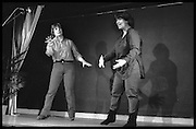 FRENCH AND SAUNDER; JENNIFER SAUNDERS: DAWN FRENCH,  Performance of The Comic Strip,  Boulevard Theatre, next to the Raymond Revue, Walkers court , Soho. London. 1981