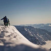 Jeremy Jones & Terje Haakenson hike a line during the Further Svalbard expedition. Everything we shot was accessed on foot.