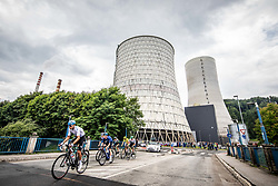 Peloton at TES during 2nd Stage of 27th Tour of Slovenia 2021 cycling race between Zalec and Celje (147 km), on June 10, 2021 in Slovenia. Photo by Vid Ponikvar / Sportida