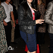 Stacy Francis leaving TMA Talent Management Group host launch party for their new dating app, The List at 100 Wardour Street  on 3rd April 2019, London, UK.