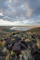 Warner Lakes Wetlands, seen from Hart Mountain National Antelope Refuge, Oregon