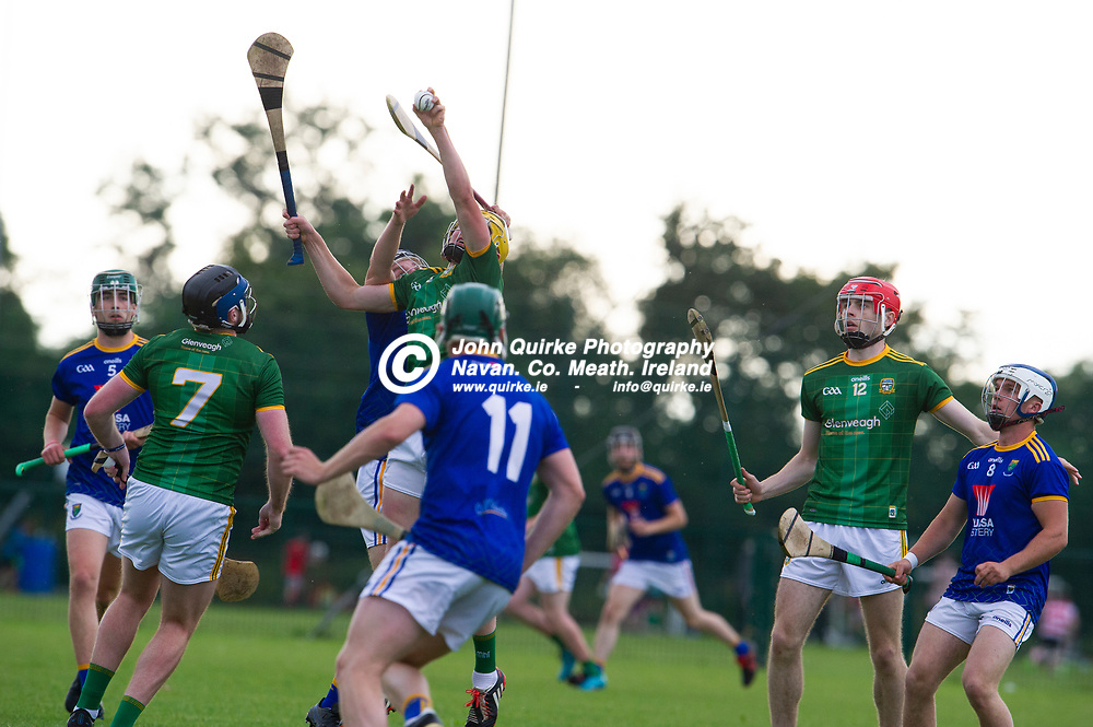 13-07-21. Meath v Wicklow - Leinster U-20 B Hurling Championship (Richie McElligott Cup) 2021 at St. Loman's Park, Trim.<br /> Justin Coyne claims possession for Meath against Wicklow in the Leinster U-20 B Hurling Championship (Richie McElligott Cup) 2021<br /> Photo: John Quirke / www.quirke.ie<br /> ©John Quirke Photography, 16 Proudstown Road, Navan. Co. Meath. (info@quirke.ie / 046-9028461 / 087-2579454).