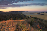 The Loess Hills are located in Western Iowa and rise hundreds of feet above the surrounding farmland. Murray Hill is one of the most scenic overlooks in the area with views of the Missouri River and into Nebraska.