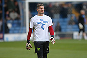 Bury players wore t-shirts in support of Joe Thompson following his recent diagnosis of cancer  during the EFL Sky Bet League 1 match between Bury and Rochdale at the JD Stadium, Bury, England on 13 April 2017. Photo by Daniel Youngs.