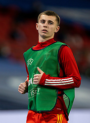 LONDON, ENGLAND - Thursday, October 8, 2020: Wales' substitute Ben Woodburn warms-up during the International Friendly match between England and Wales at Wembley Stadium. The game was played behind closed doors due to the UK Government's social distancing laws prohibiting supporters from attending events inside stadiums as a result of the Coronavirus Pandemic. England won 3-0. (Pic by David Rawcliffe/Propaganda)