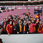 Galatasaray's supporters during their Turkish Super League soccer match Galatasaray between Akhisar Belediye Genclik ve Spor at the AliSamiYen Spor Kompleksi TT Arena at Seyrantepe in Istanbul Turkey on Sunday, 20 December 2015. Photo by Aykut AKICI/TURKPIX