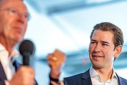 19.04.2018, Getreidegasse, Salzburg, AUT, Landtagswahl in Salzburg 2018, OeVP Wahlkampfschlussveranstaltung, im Bild v.l.: Wilfried Haslauer (OeVP), Bundeskanzler Sebastian Kurz (OeVP) // Wilfried Haslauer (OeVP), Austrian Federal Chancellor Sebastian Kurz during a campaign event of the OeVP Party for the State election in Salzburg 2018. Getreidegasse in Salzburg, Austria on 2018/04/19. EXPA Pictures © 2018, PhotoCredit: EXPA/ JFK