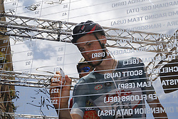 May 9, 2018 - Santa Ninfa, ITALY - Belgian Tim Wellens of Lotto Soudal signs the starting list at stage 5 of the 101st edition of the Giro D'Italia cycling tour, 153km from Agrigento to Santa Ninfa (Valle del Belice), Italy, Wednesday 09 May 2018...BELGA PHOTO YUZURU SUNADA FRANCE OUT (Credit Image: © Yuzuru Sunada/Belga via ZUMA Press)