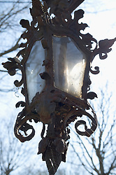 Old Lamp lantern cemetery Vienna central rusty