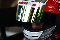 March 2, 2018 - Las Vegas, Nevada, United States of America - March 02, 2018 - Las Vegas, Nevada, USA: Ryan Reed (16) straps into his car to practice for the Boyd Gaming 300 at Las Vegas Motor Speedway in Las Vegas, Nevada. (Credit Image: © Chris Owens Asp Inc/ASP via ZUMA Wire)