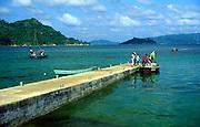 Boat jetty at Baie Ste Anne, Praslin island, Seychelles