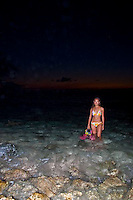 Sunset at Rick's Reef, one of Guam favorite spots for diving and over-the-reef snorkeling