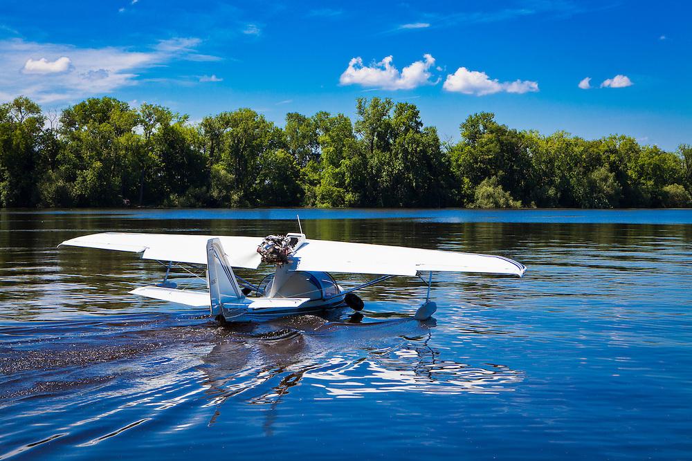 An Aerodyne Sea Ray LSX at the Seaplane base, Oshkosh, Wisconsin.