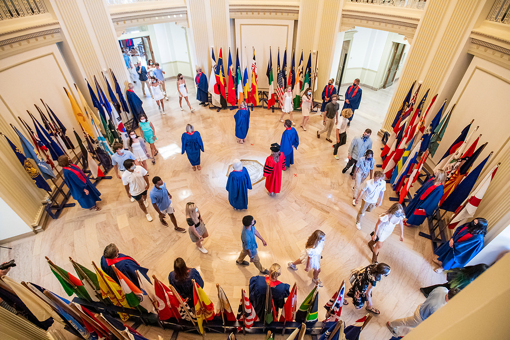 SMU Class of 2025 Students participate in Rotunda Passage and attend Opening Convocation, Sunday, August 22, 2021 on the SMU Campus.