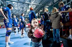Daughter of Deja Doler Ivanovic after EHF Champions league handball match in Group II between RK Krim Mercator and Gyori Audi Eto KC, on February 7, 2009, in Kodeljevo, Ljubljana, Slovenia. Gyori won 35:31. (Photo by Vid Ponikvar / Sportida)