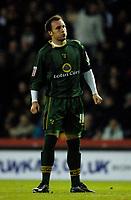 Photo: Glyn Thomas.<br />Derby County v Norwich City. Coca Cola Championship.<br />03/12/2005.<br />Norwich's Dean Ashton looks dejected.