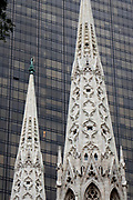 The spires of St. Patrick's Cathedral Manhattan, NYC, USA