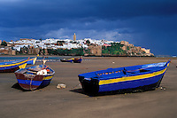 Maroc, Rabat, L'oued Regreg et la Kasbah des Oudaïas // Oued (river) Bou Regreg, with Kasbah of Oudaïas in background, Rabat, Morocco