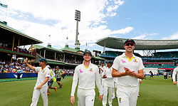 Australia's Steve Smith celebrates winning the ashes during day five of the Ashes Test match at Sydney Cricket Ground.