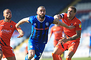 Aaron Wilbraham breaks forward during the EFL Sky Bet League 1 match between Rochdale and Wycombe Wanderers at Spotland, Rochdale, England on 19 April 2019.